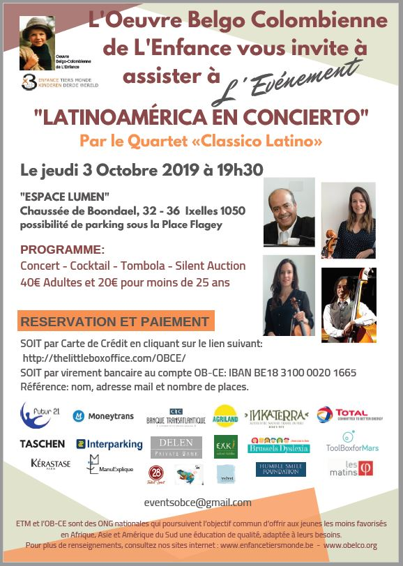 Invitation OBCE Concert Oct 2019